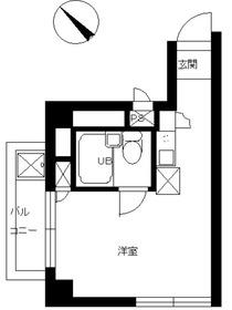 スカイコート早稲田4階Fの間取り画像
