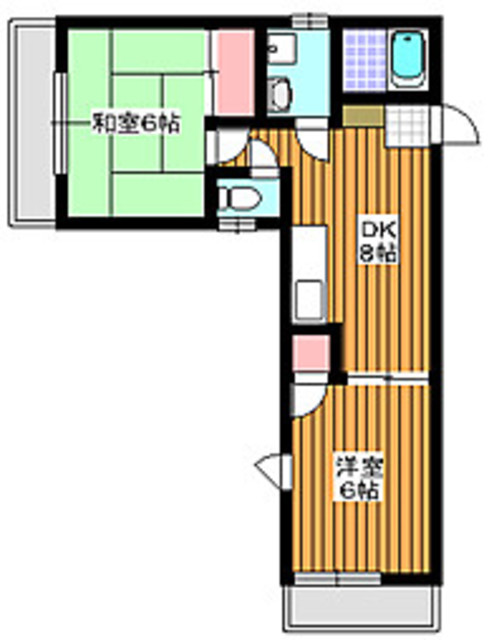 成増駅 徒歩14分間取図