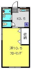 シティハイム北斗2階Fの間取り画像