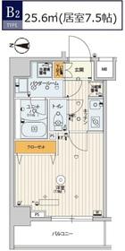 スカイコートパレス錦糸町Ⅱ5階Fの間取り画像