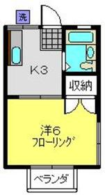 幸美ハイツ2階Fの間取り画像