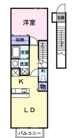 北寺尾レジデンス2階Fの間取り画像