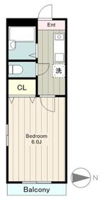 ハイムナナマル1階Fの間取り画像
