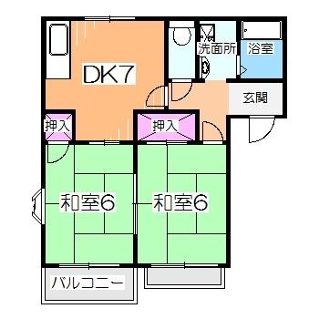 1フロア2戸で全戸角部屋♪