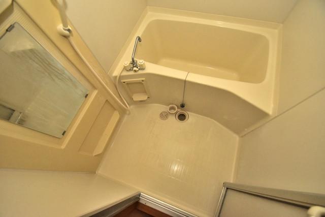 ノースフライト ちょうどいいサイズのお風呂です。お掃除も楽にできますよ。