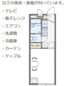 レオパレスアルファード2階Fの間取り画像