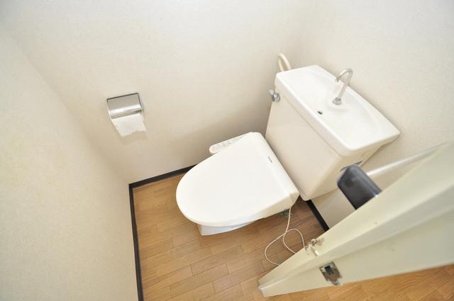 ニューハイツアサヒ キレイに清掃されたトイレは清潔感がり気分もよくなります。