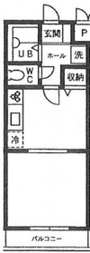 ヴィラ川崎2階Fの間取り画像