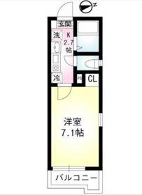 グランドール二俣川2階Fの間取り画像