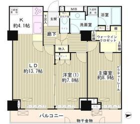 渋谷駅 徒歩8分11階Fの間取り画像