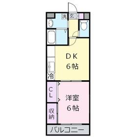 アーバンフューチャー2階Fの間取り画像