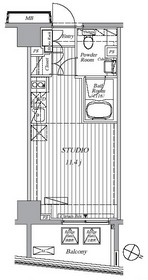 Ti-HIGASHIAZABU3階Fの間取り画像