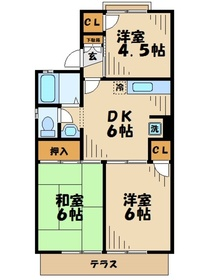 伊勢原駅 徒歩9分1階Fの間取り画像
