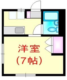 メゾン田嶋2階Fの間取り画像