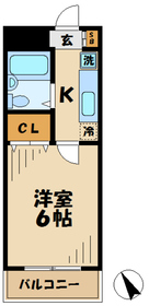 ハイムロアール2階Fの間取り画像