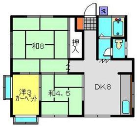 サンハウススズキ2階Fの間取り画像