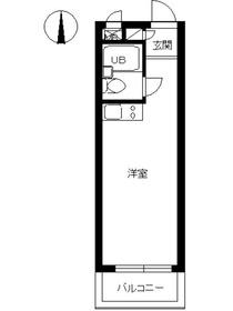 スカイコート新宿第22階Fの間取り画像