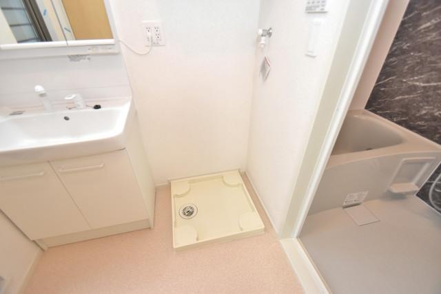 リジエールⅡ 嬉しい室内洗濯機置場。これで洗濯機も長持ちしますね。