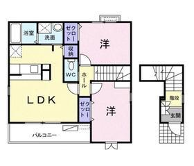ポムドテール ミニヨン2階Fの間取り画像