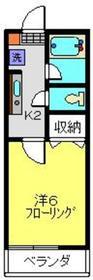ディアコート2階Fの間取り画像