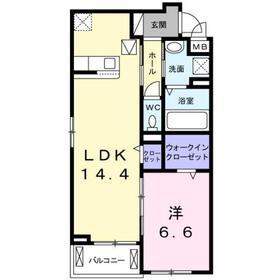 クラール KⅡ1階Fの間取り画像