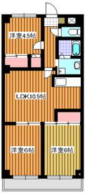 西高島平駅 徒歩19分5階Fの間取り画像