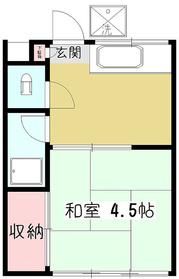 日高荘1階Fの間取り画像