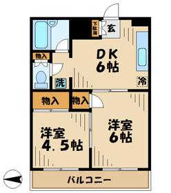 プラザマキシム6階Fの間取り画像