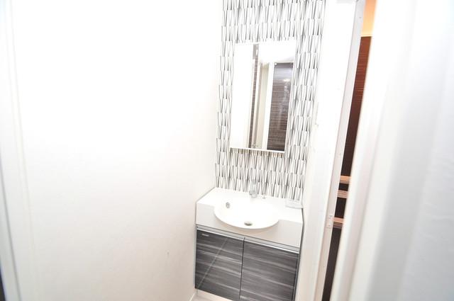 ヴェルテックス 広い洗面所はご家族の多い、忙しい朝にも十分対応してくれます。