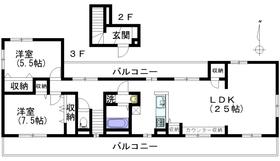 メゾンシェル2-3階Fの間取り画像