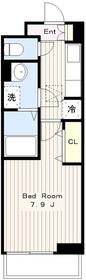 ラフォレスタツルマキ1階Fの間取り画像