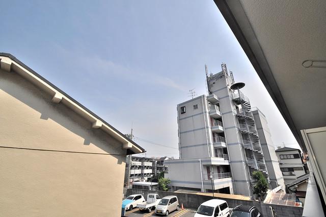 エクレール上小阪 この見晴らしが陽当たりのイイお部屋を作ってます。
