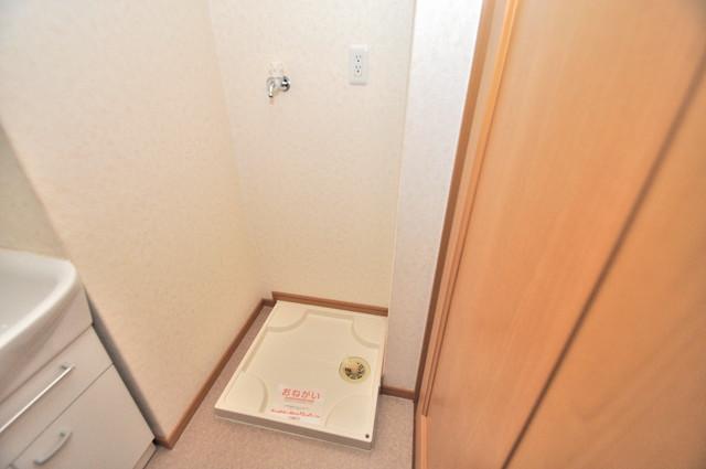 セレンディピティO・V 嬉しい室内洗濯機置場。これで洗濯機も長持ちしますね。