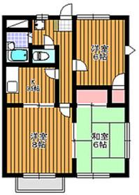 地下鉄成増駅 徒歩17分2階Fの間取り画像
