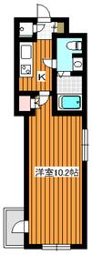ビバリーホームズ赤塚公園Ⅱ3階Fの間取り画像