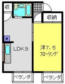 サンハイム岩崎2階Fの間取り画像