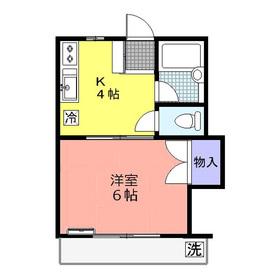第3コーポ2階Fの間取り画像