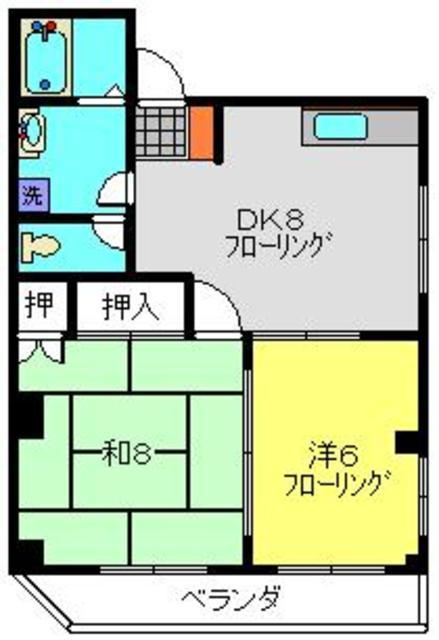 二俣川駅 徒歩2分間取図