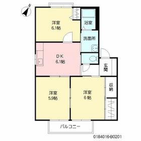 アイナAJ2階Fの間取り画像