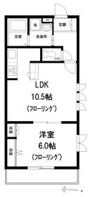アネーロ富士2階Fの間取り画像