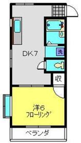 レジデンスアキマ3階Fの間取り画像