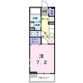 メゾン ド ポミエ M2階Fの間取り画像