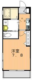 タウンコート初台2階Fの間取り画像