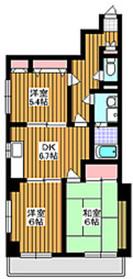 東武練馬駅 徒歩14分2階Fの間取り画像
