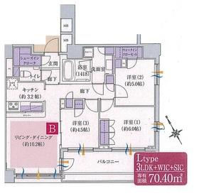 シェフルール西早稲田ラヴィーナ13階Fの間取り画像