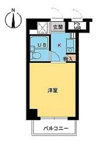 スカイコート横浜駅西口5階Fの間取り画像