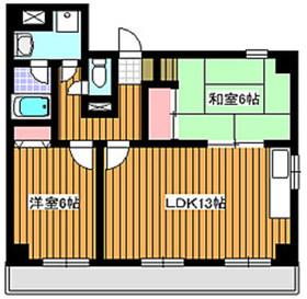 地下鉄成増駅 徒歩3分5階Fの間取り画像