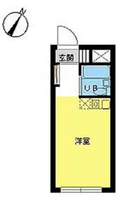 スカイコート高円寺1階Fの間取り画像