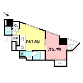 ミュゼ松濤4階Fの間取り画像