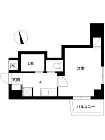 スカイコートヴァンテアン早稲田5階Fの間取り画像